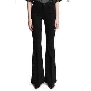 L'Agence Flared Black Jeans
